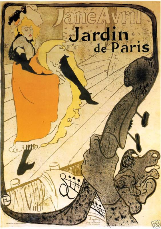 toulouse lautrec drawing jane avril fine art print ebay. Black Bedroom Furniture Sets. Home Design Ideas