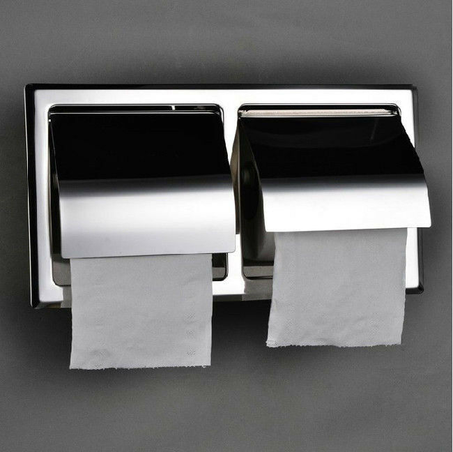 Free Shipping Stainless Steel Toilet Double Roll Paper