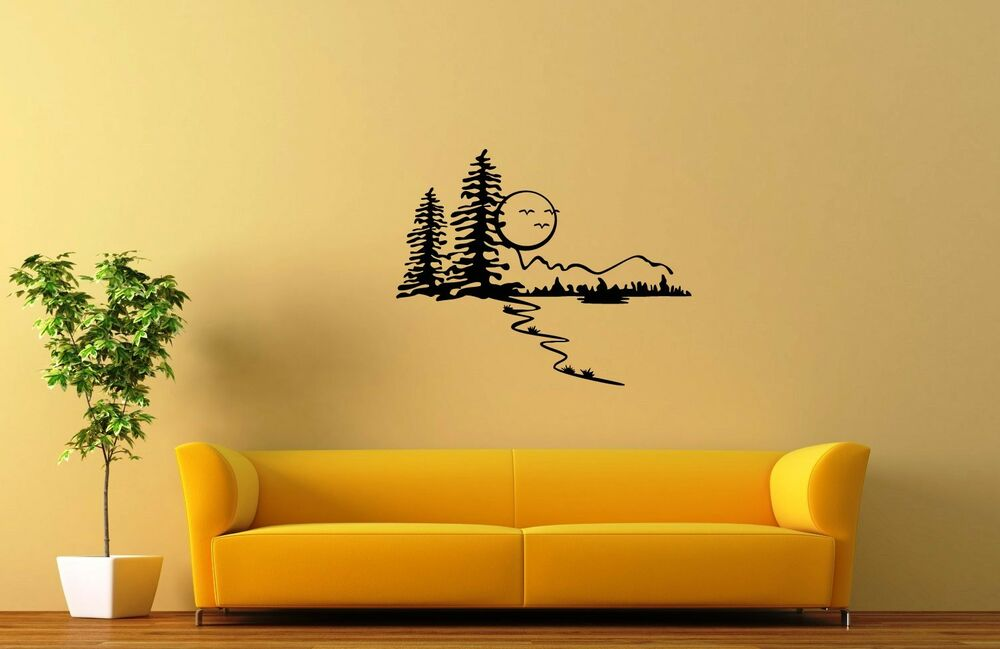 Nature Wall Decor Stickers : Wall stickers vinyl decal nature landscape forest trees