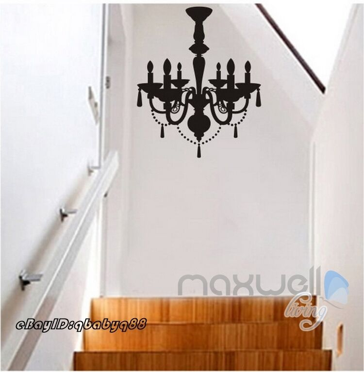 From Seword Wall Art Vinyl Lettering Home Decor ~ Black chandelier wall decals vinyl art home stickers room