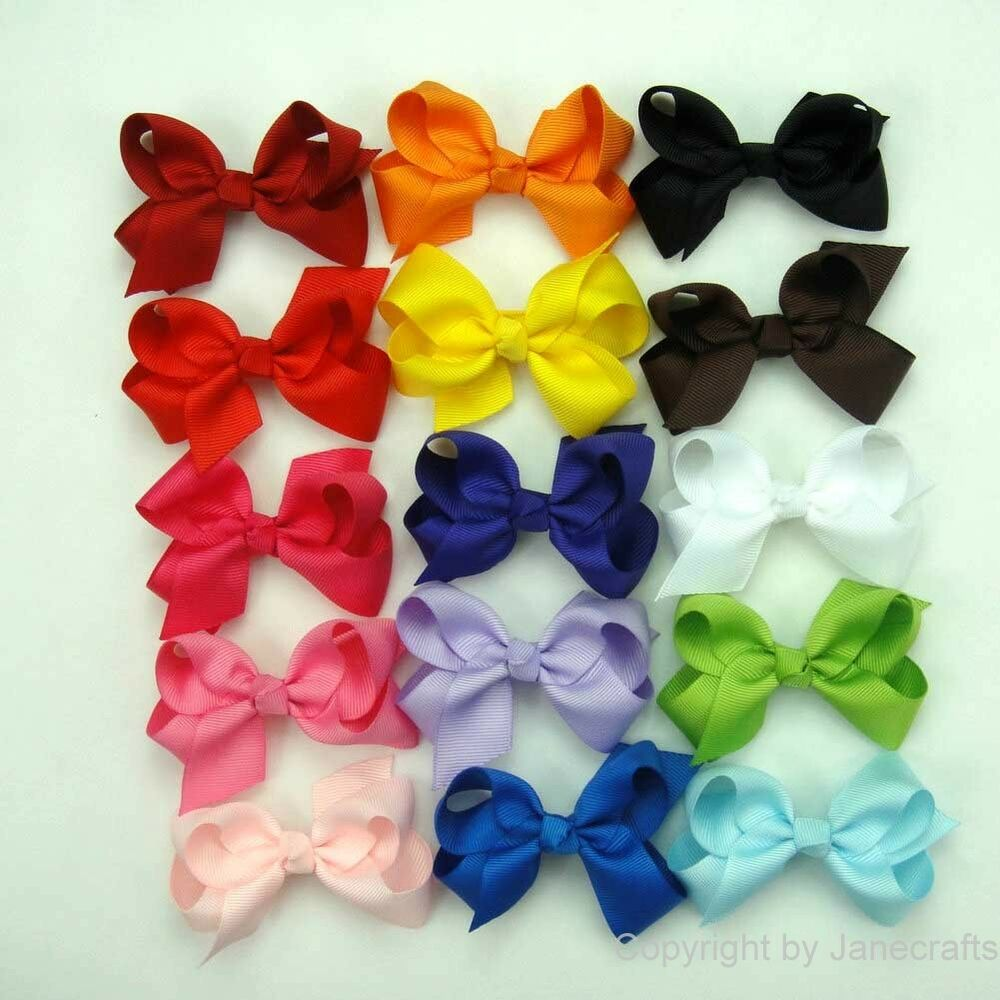 Product - Coxeer 40Pcs Ribbon Hair Bows Clips Hairpin Hair Accessories for Baby Clothing: Girls Hair Accessories, Kids Clothing, Women and more.