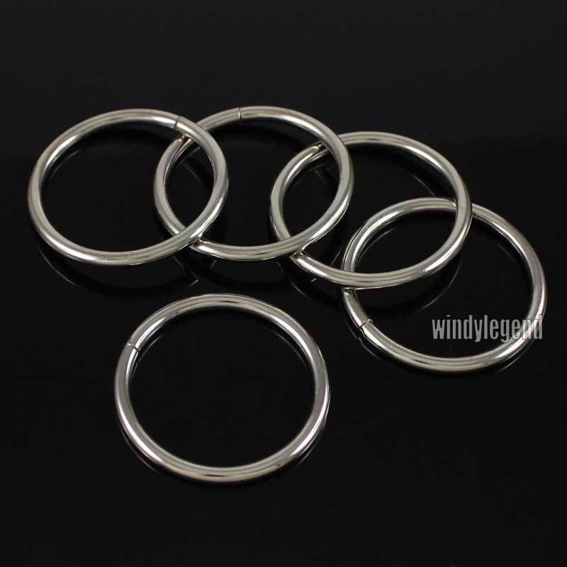 10pcs round metal o rings 1 1 2 39 39 non welded nickel finish