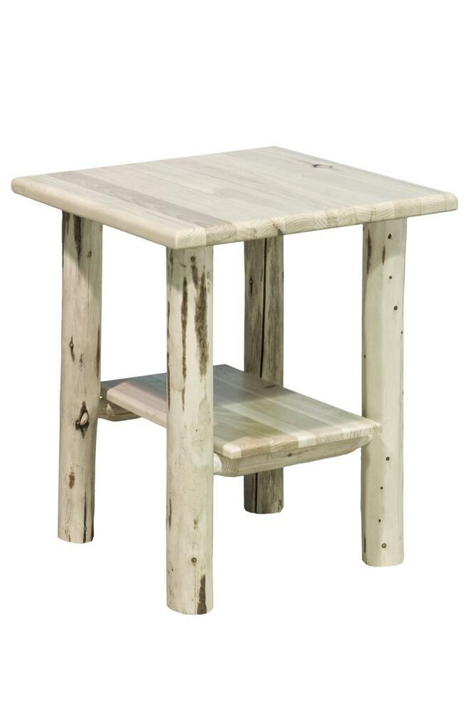 log end tables rustic night stand pine log night stand. Black Bedroom Furniture Sets. Home Design Ideas