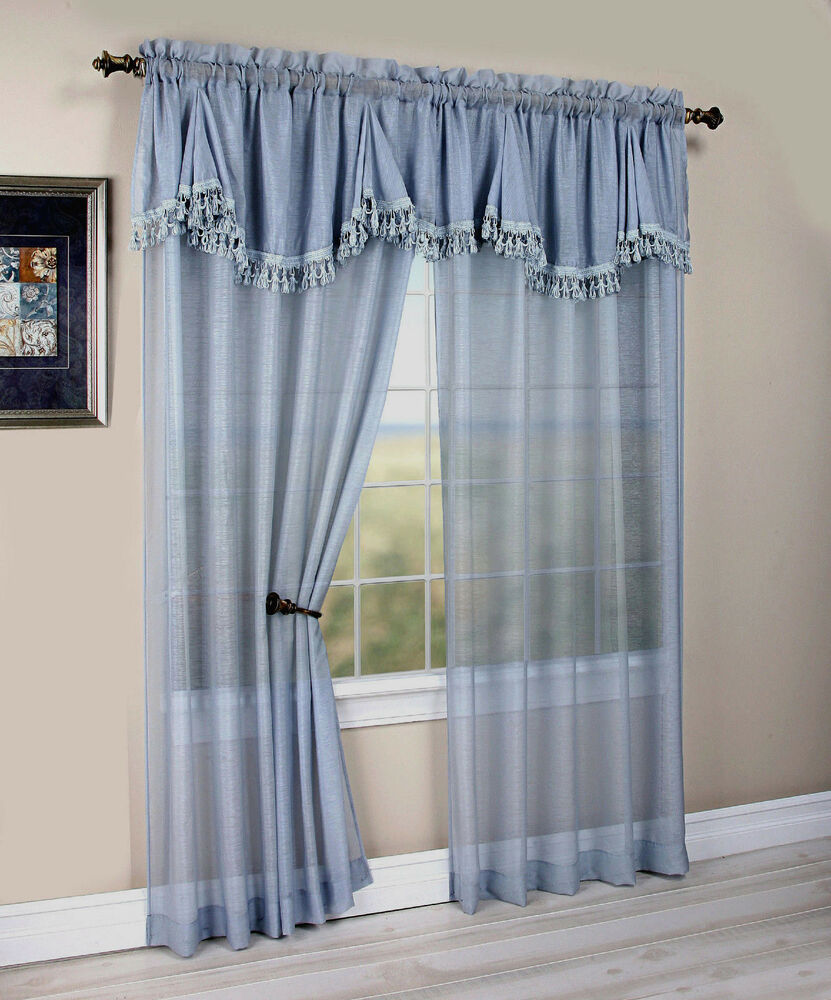 Maxwell Matte Sheer Curtain With An Attached Georgette