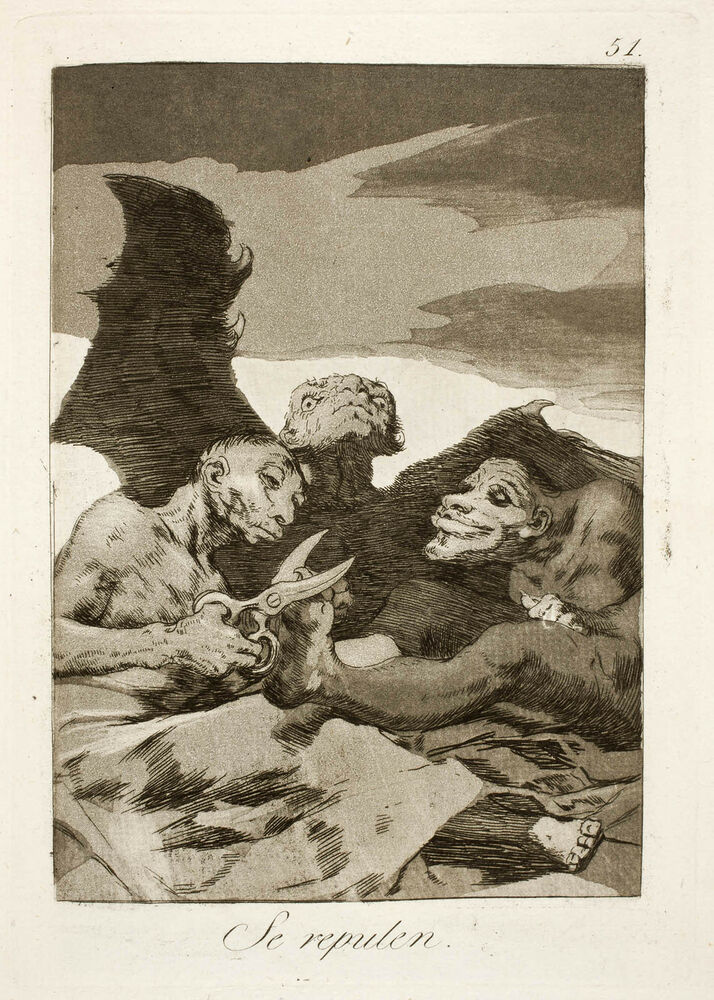 Goya prints the witchcraft caprichos set 2 3 fine art for 3 by 3 prints