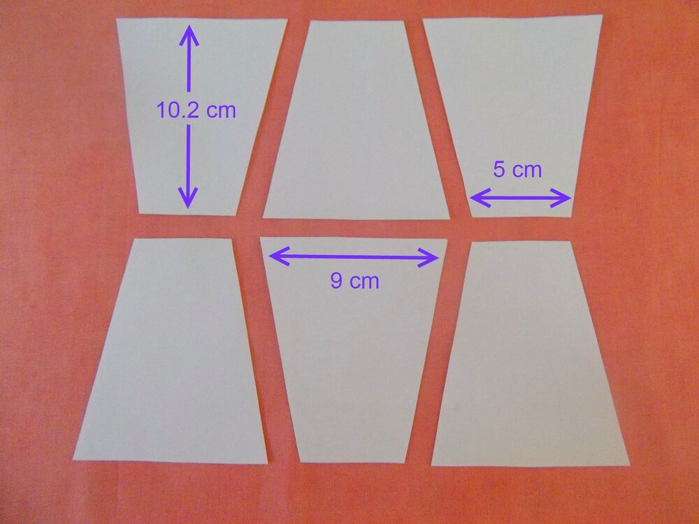 100 Tumbler Block Templates for Patchwork - Paper - NEW SHAPE- LARGE ...