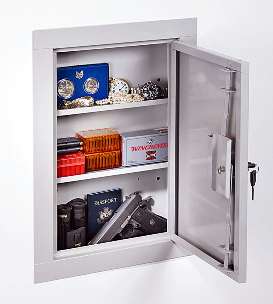New Stack On Iwc 22 In Wall Cabinet Home Security Safe