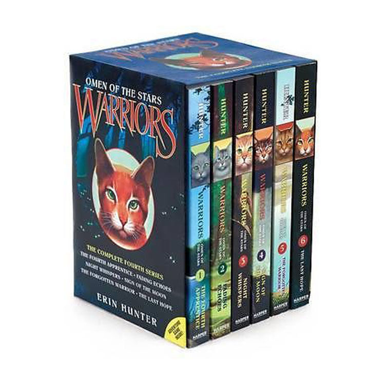 Warriors Book Series Quizzes: Omen Of The Stars Collection Erin Hunter 6 Books Box Set