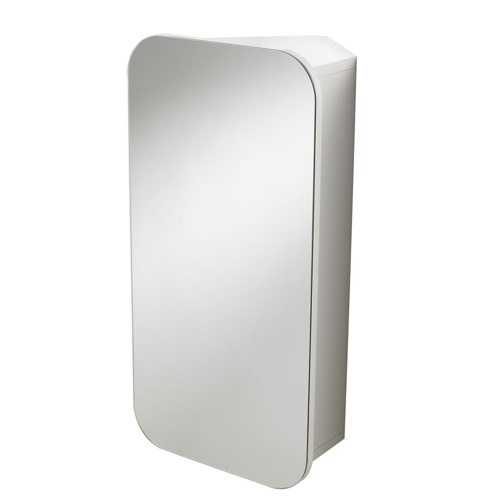 Carlton wall mounted white bathroom corner cabinet - Wall mounted bathroom storage units ...