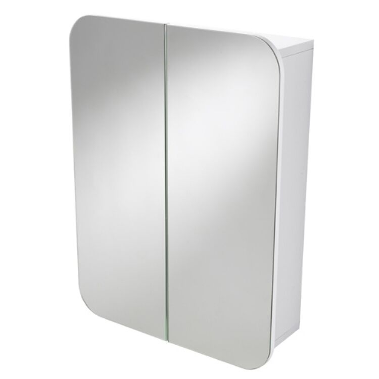Denham Wall Mounted Double Door Bathroom Mirror Cabinet Cupboard Unit Ebay
