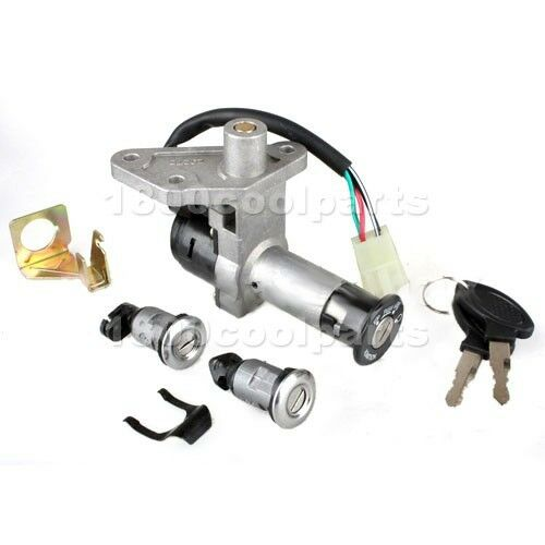 chinese ignition switch key set 4 wire gy6 150cc moped. Black Bedroom Furniture Sets. Home Design Ideas