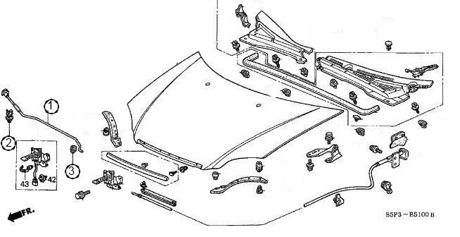 Chrome Ford Fe V8 Distributor Hold Down Cl  352 360 390 406 427 428 Sp7625 also ShowAssembly likewise I 5060364 Jaz Products Raised Steel Cap besides 182 1328 29620 also Volkswagen Hood Latch Diagram. on car hood clamp
