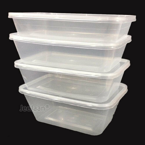 Microwave Food Container ~ Plastic containers tubs clear with lids microwave food