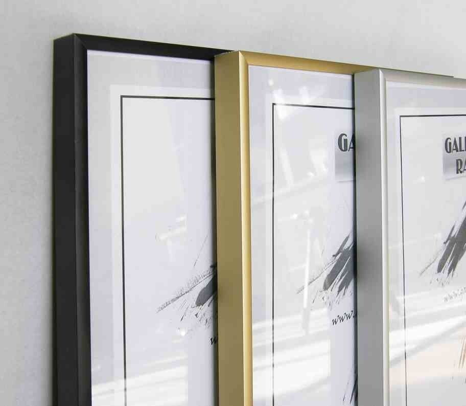 alurahmen plakatrahmen bilderrahmen silber schwarz gold von 10x15 cm bis 70x100 ebay. Black Bedroom Furniture Sets. Home Design Ideas