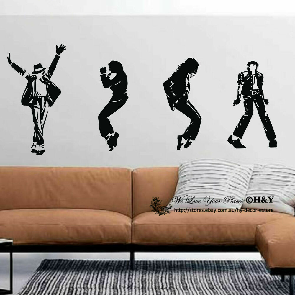Michael Jackson Wall Stickers Wall Decal Removable Art