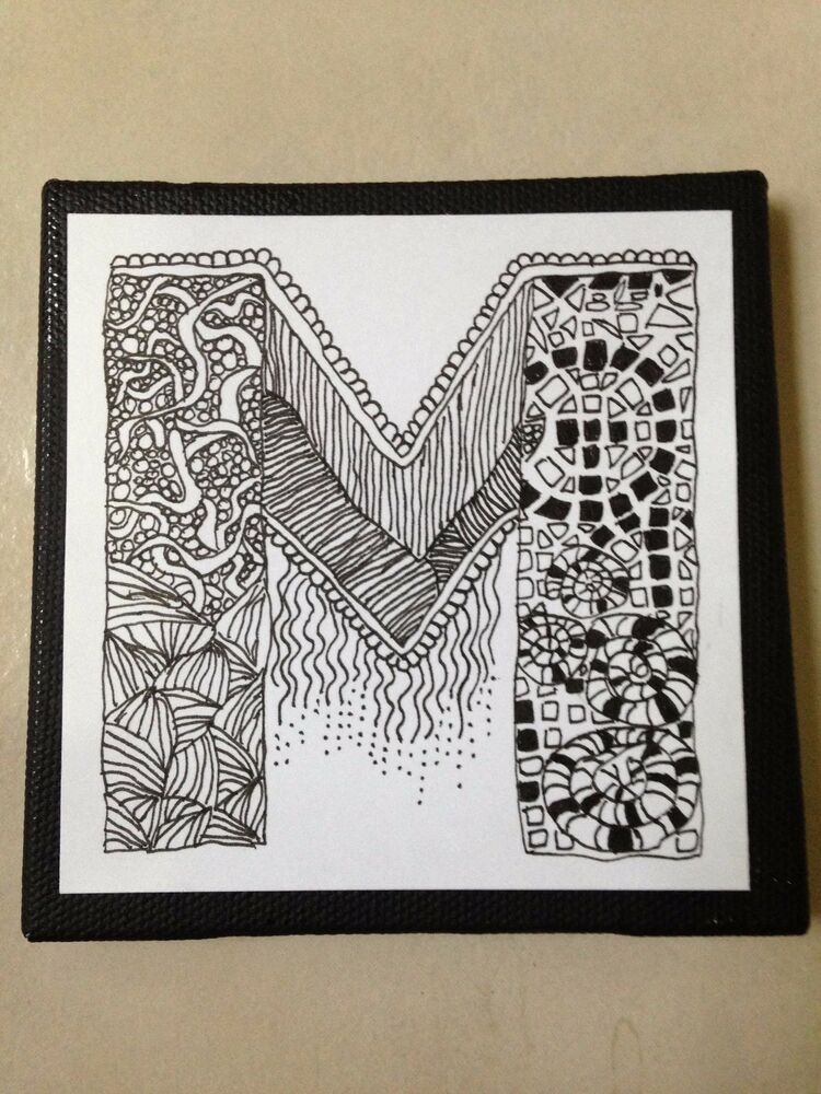 custom letters for wall fundraiser personalized zentangle 174 method inspired 6 21274