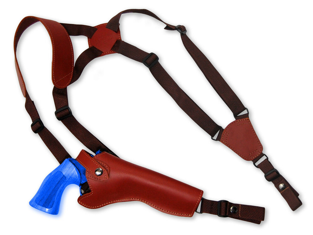 """EAA 6/"""" Revolvers NEW Barsony Black Leather Vertical Shoulder Holster Dan Wesson"""