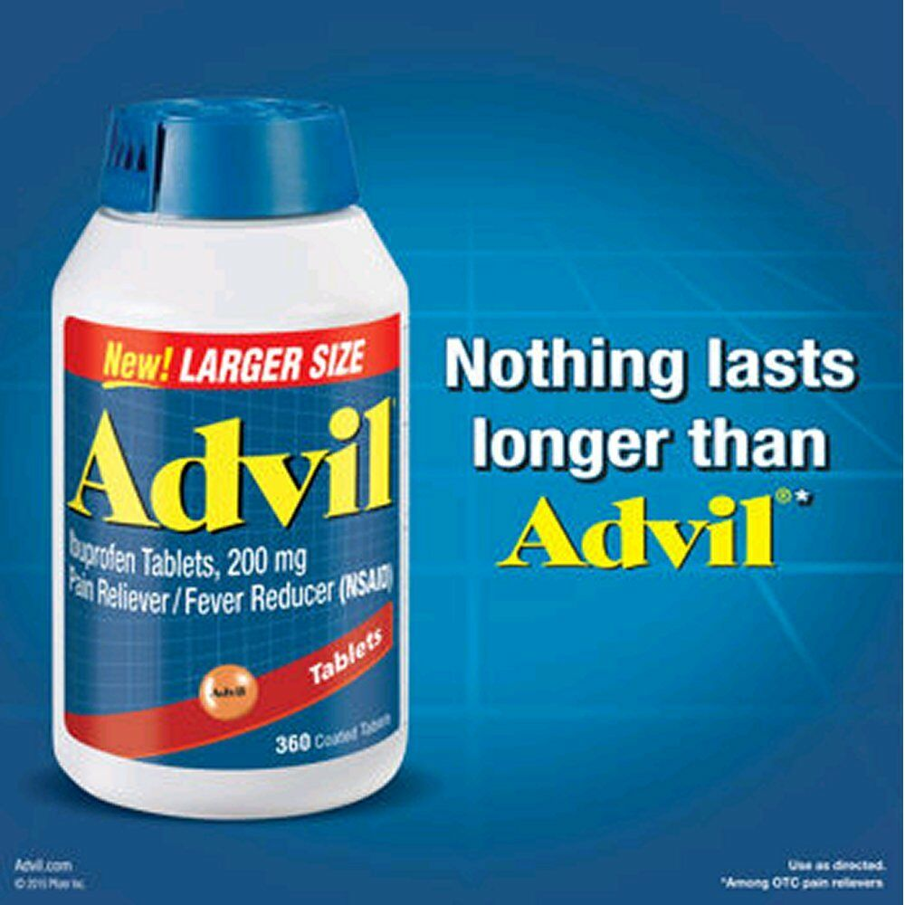 Advil Ibuprofen Tablets 200 Mg Pain Reliever Fever