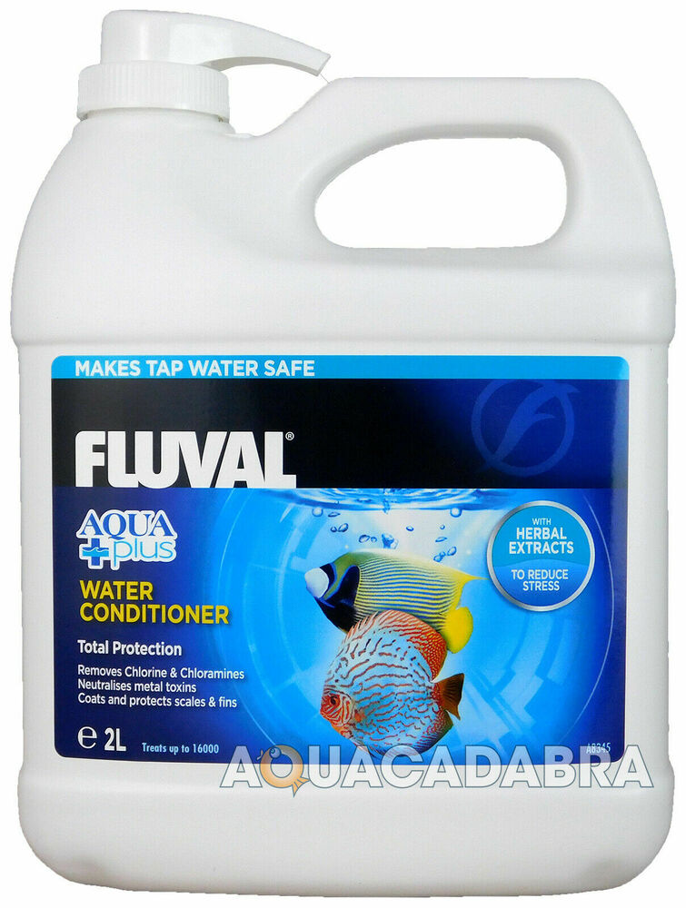 Fluval aquaplus 2l 2 litre water conditioner fish tank tap for How to make tap water safe for fish
