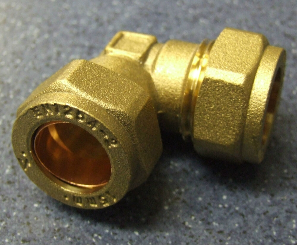 Brass mm compression elbow degree joint