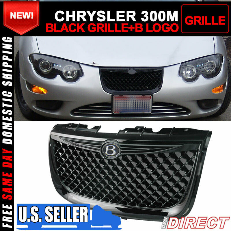 Fit 99-04 Chrysler 300M Diamond ABS Black Front Bumper