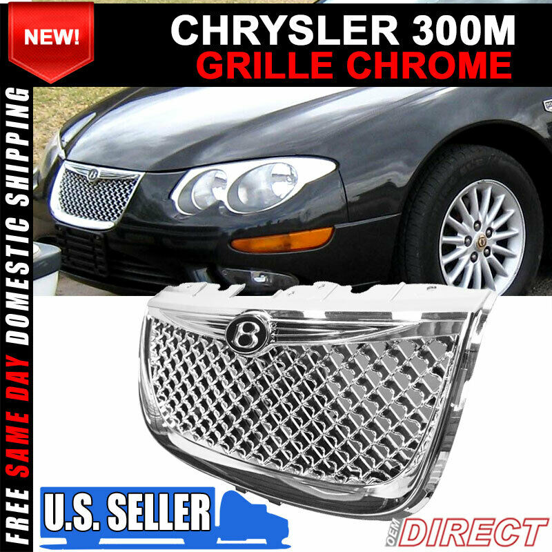 99-04 Chrysler 300M Diamond Chrome Mesh Hood Grill Grille