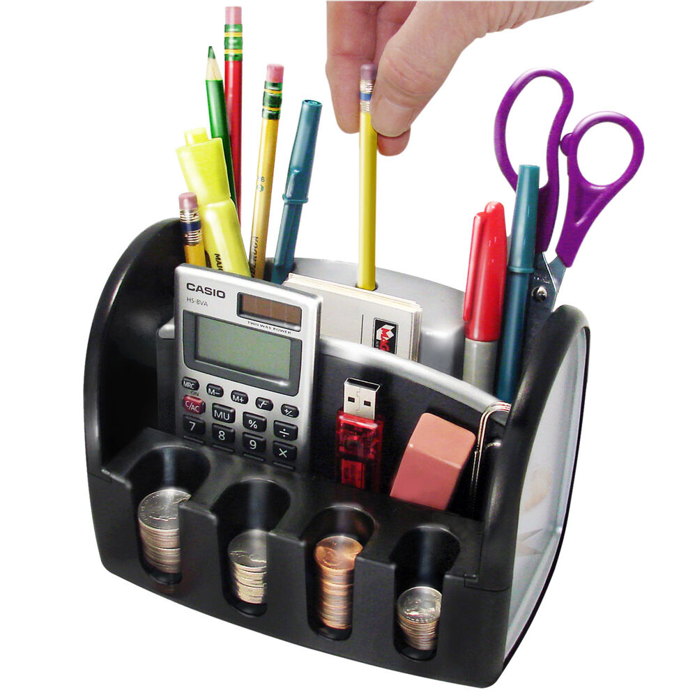 Desk Organizer Electric Pencil Sharpener Coin Change Pen