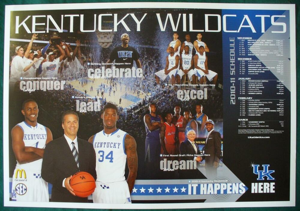 Uk Basketball Schedule: 2010-11 UNIVERSITY OF KENTUCKY UK WILDCATS BASKETBALL