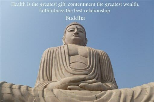 Buddha PEACE With QUOTES Inspirational POSTER 24X36 Simple