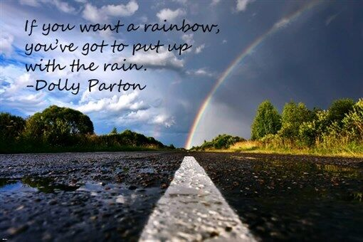 RAINBOW & Highway INSPIRATIONAL Dolly Parton Quote POSTER