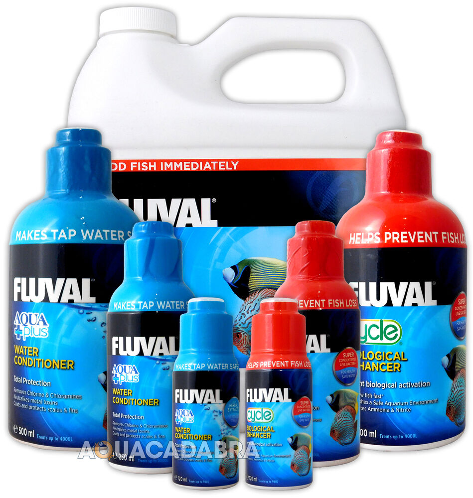 Fluval aquaplus cycle biological water conditioner fish for Water conditioner for fish tank