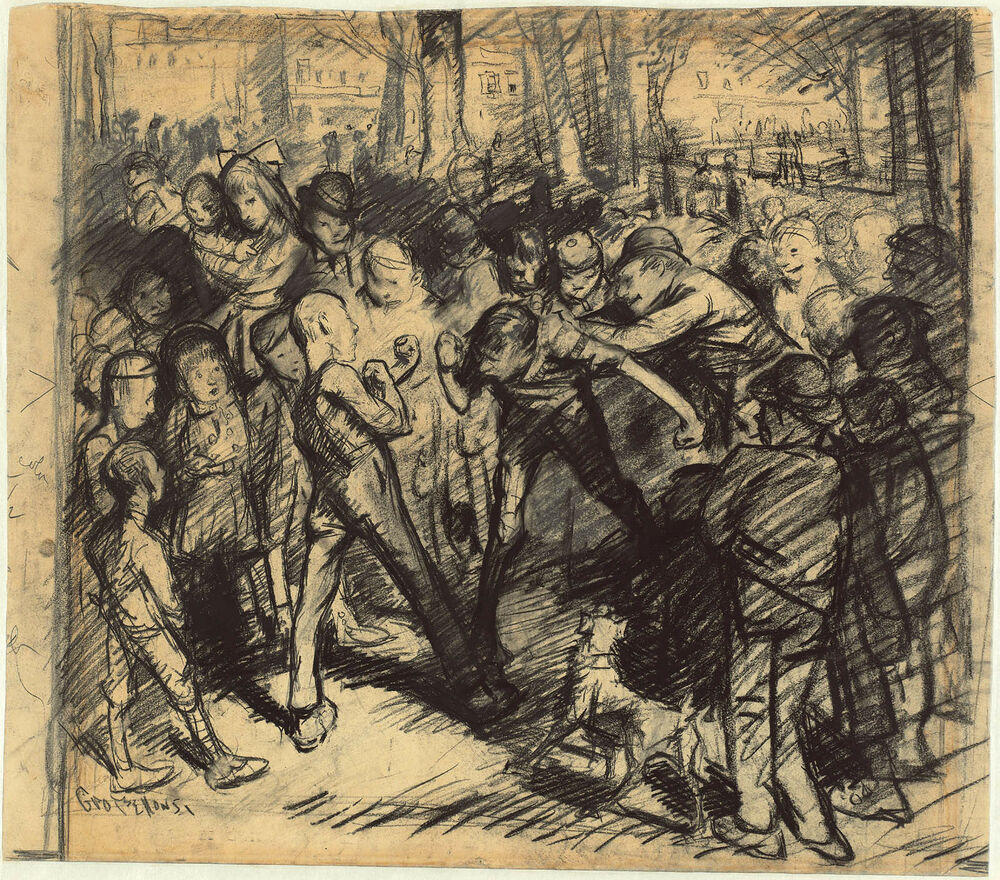 George Bellows Reproductions Street Fight Fine Art