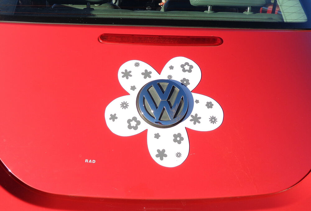 Gray Vw Beetle >> VW Beetle Flower Magnetic Decal - Gray Flowers | eBay