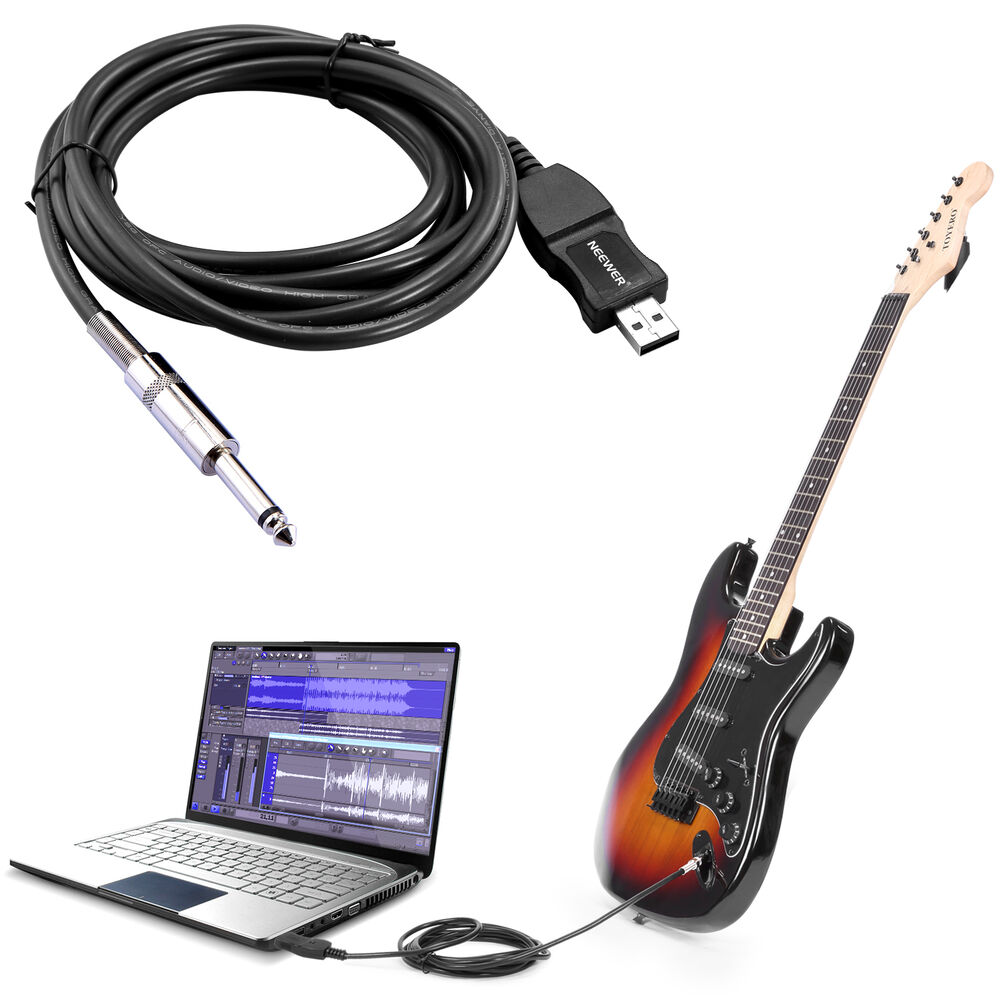 Guitar To Usb Cable : guitar bass 6 5mm to usb link connection instrument cable adapter pc recording ebay ~ Vivirlamusica.com Haus und Dekorationen