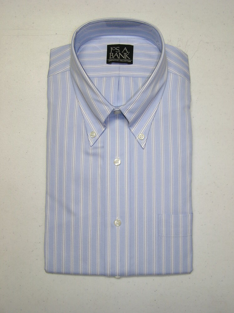 79 new jos a bank executive light blue dress shirt w