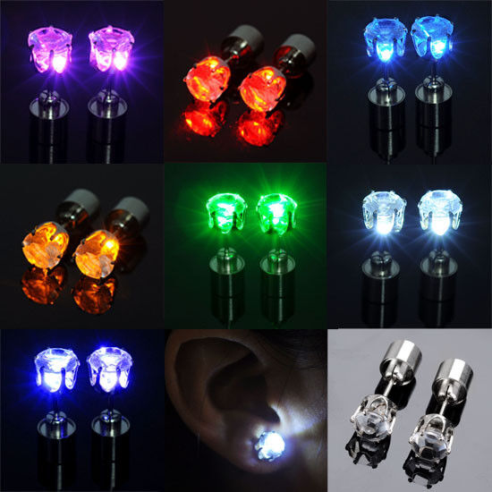 light up earrings color led earrings light up glowing studs ear ring drop 5213