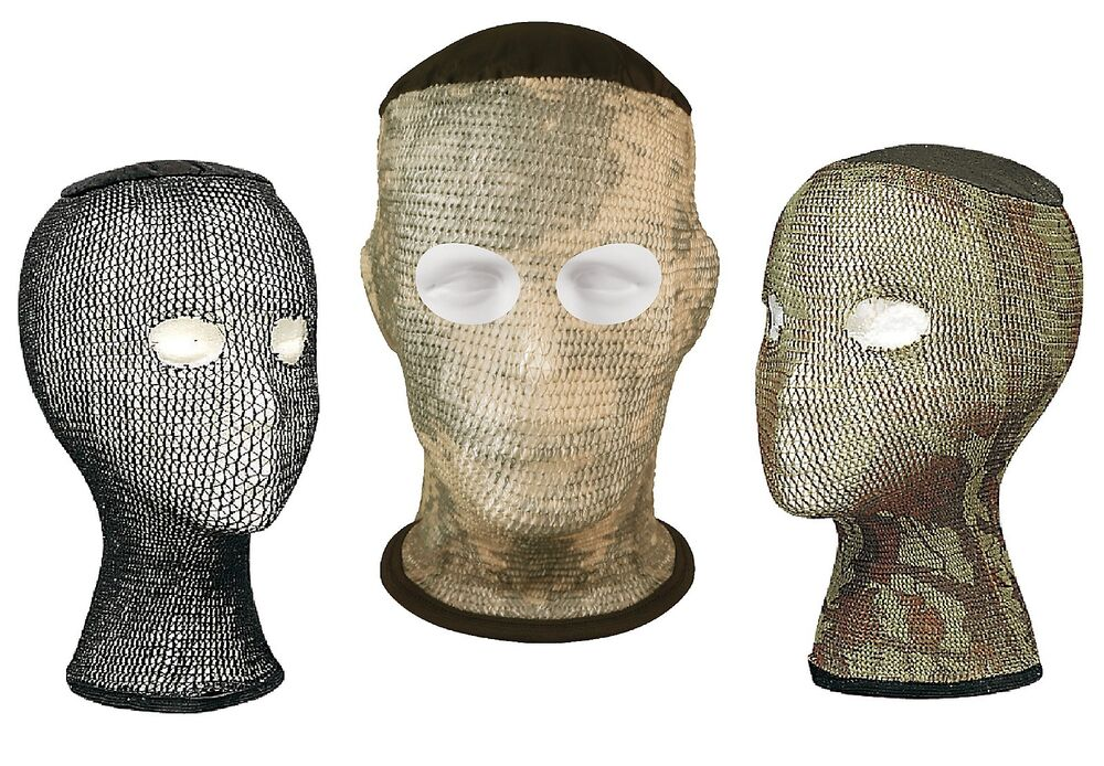 Camo Spandoflage Mosquito Head Net Facemask Conforms To