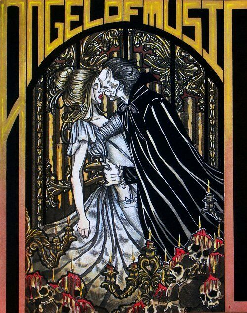 Fantasy Book Cover Art For Sale ~ Eric and christine phantom of the opera book cover gothic