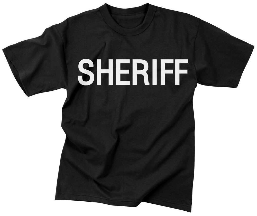 Black Sheriff Two Sided Official Issue Raid T Shirt Law