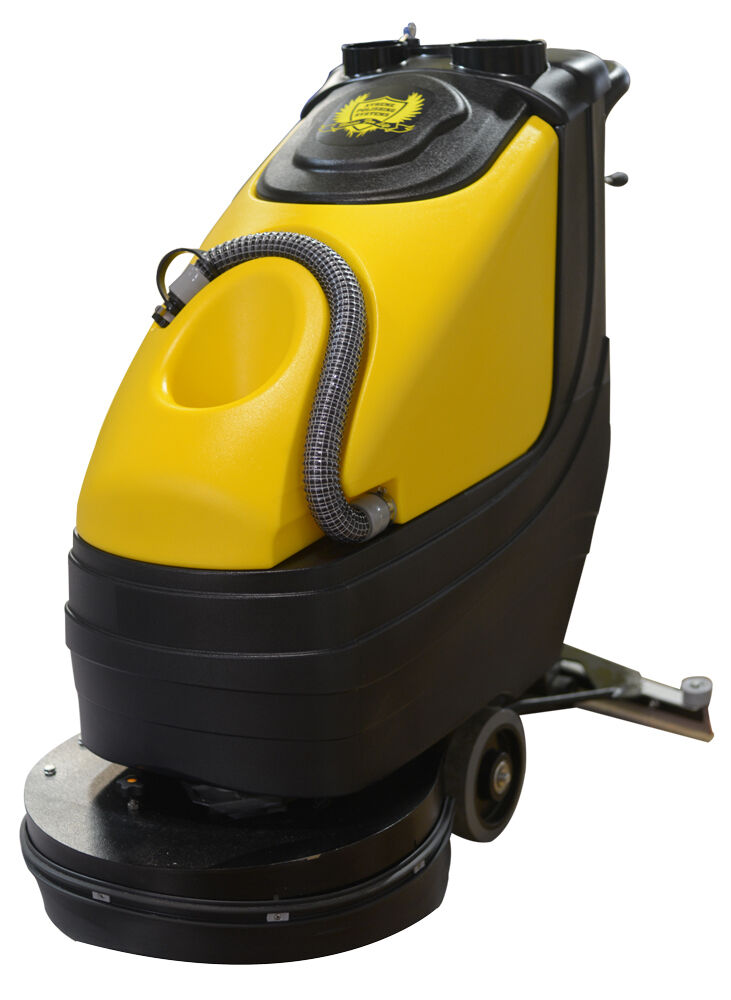 Xps 20 walk behind floor scrubber cleans concrete for Industrial concrete floor cleaning machines