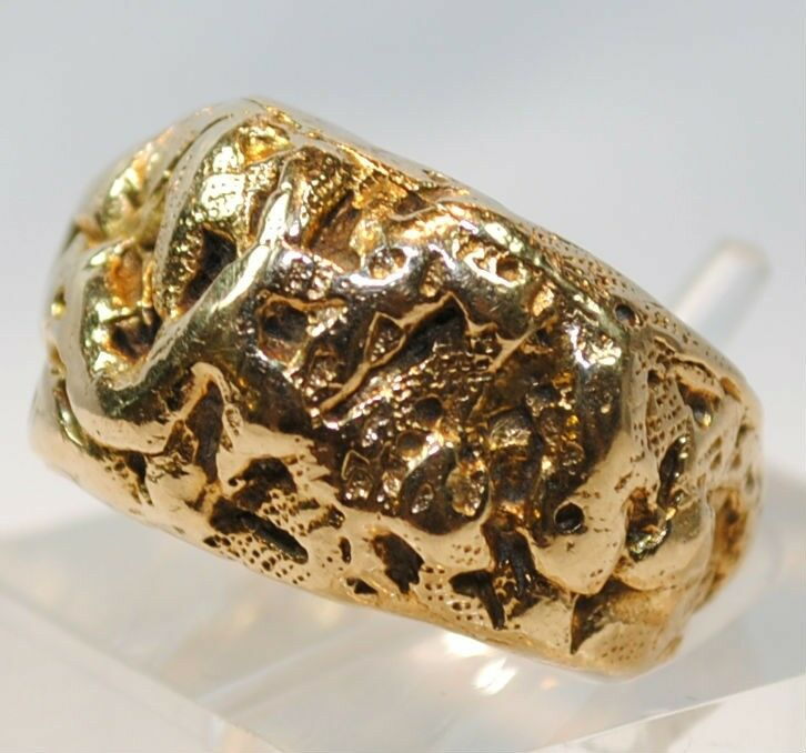 VINTAGE CUSTOM CARTIER GOLD NUGGET STYLE BAND RING