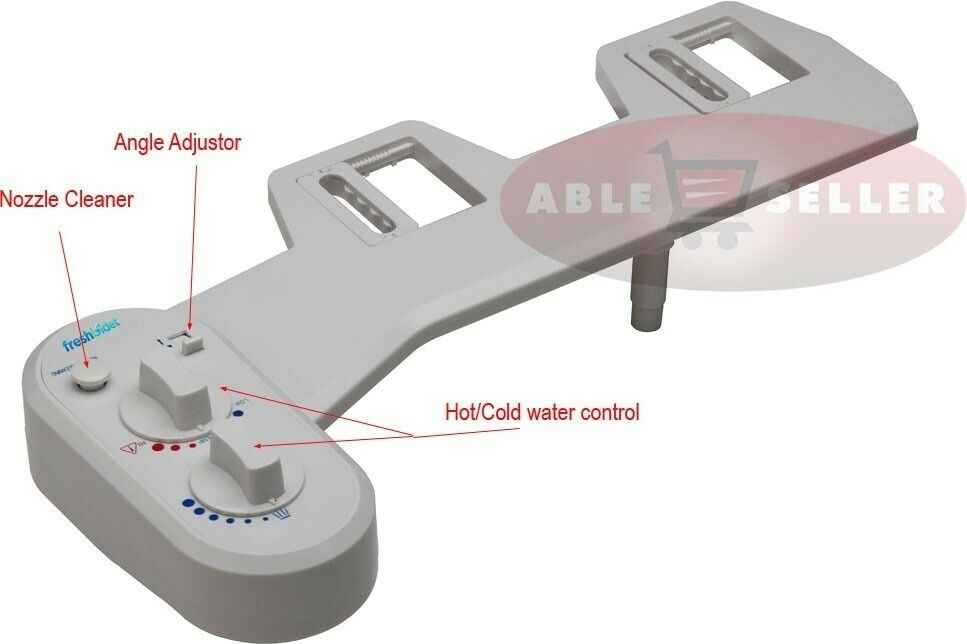 Fresh Warm Hot Water Non Electric Adjustable Angle Bidet