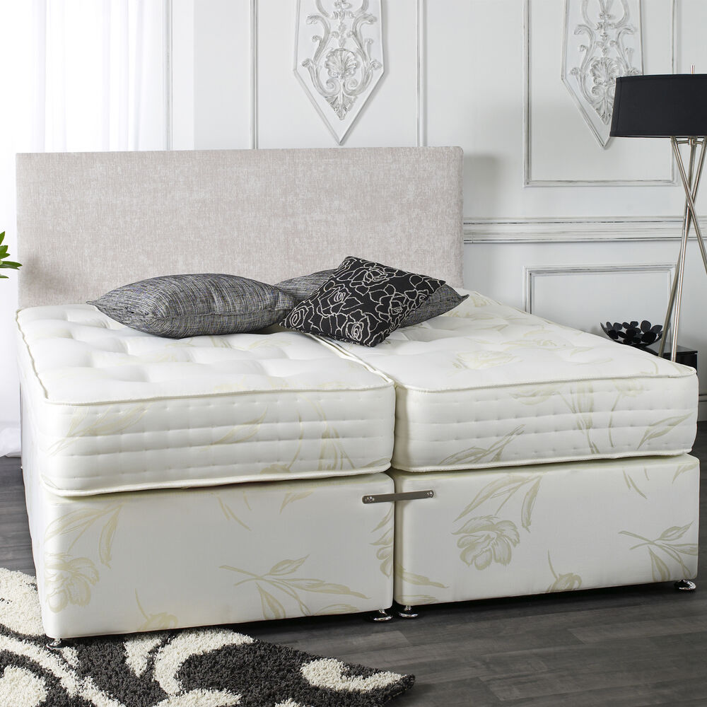 1500 pocket kensington zip link divan bed 5ft 6ft new ebay Zip and link divan beds