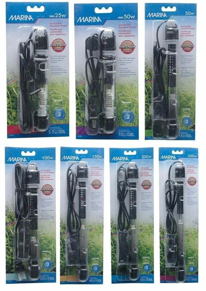 Marina Submersible Heater Aquarium Tropical Fresh Or