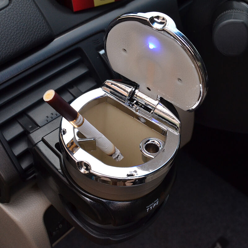 universal car auto truck cigarette smoke ashtray ash tray cup holder led light ebay. Black Bedroom Furniture Sets. Home Design Ideas