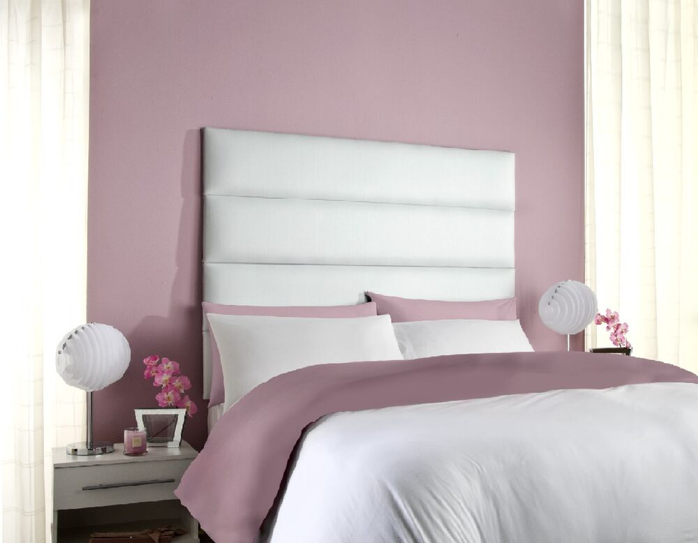 Nick high headboard all sizes colours bed faux leather - All in one double bed ...