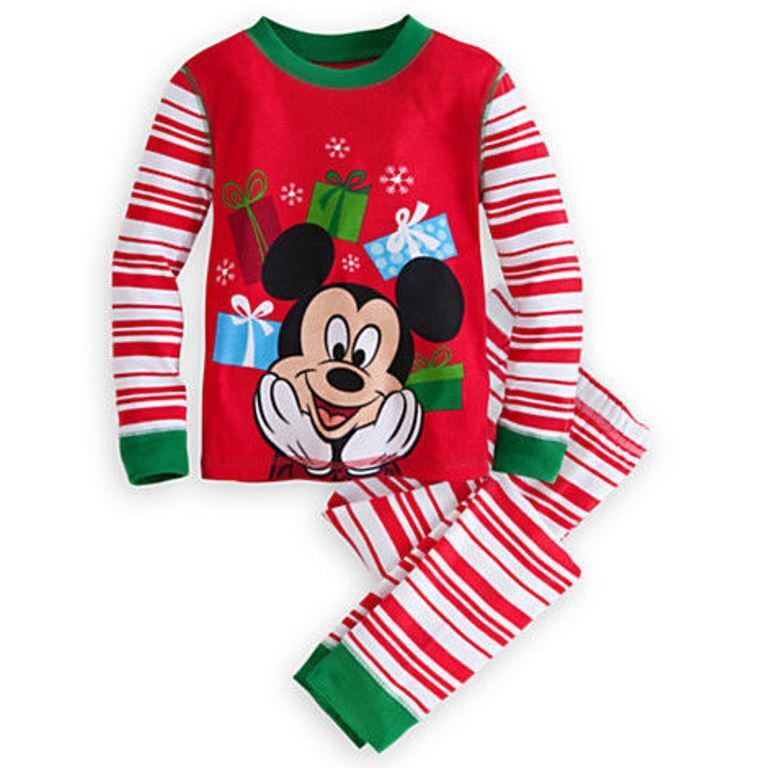 bnwt disney store mickey mouse christmas holiday pyjamas nightwear ebay. Black Bedroom Furniture Sets. Home Design Ideas