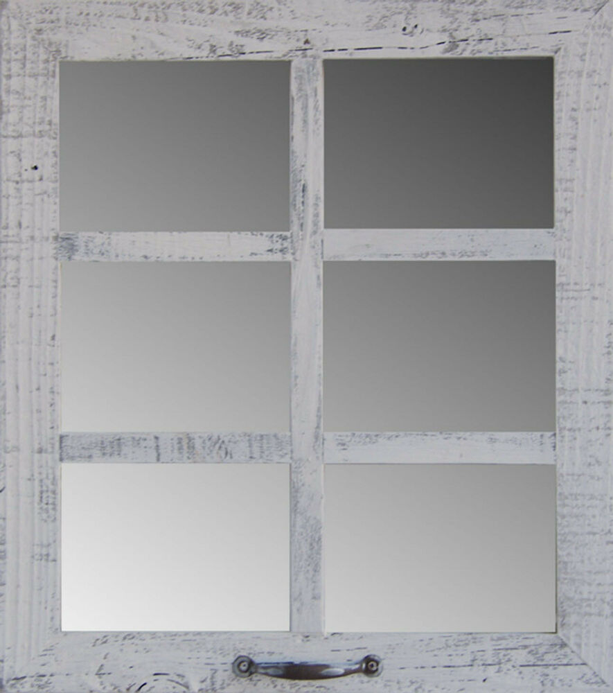 Barn Wood 6-Pane Window Mirror Rustic Style Home Decor