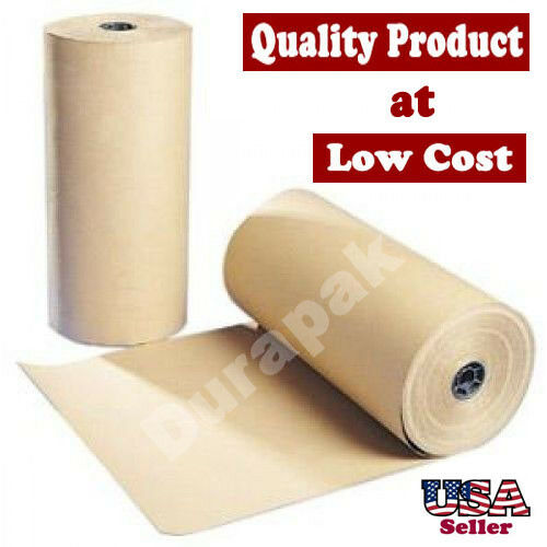 12 40 lbs 900 ft brown kraft paper roll shipping wrapping for Brown craft paper rolls