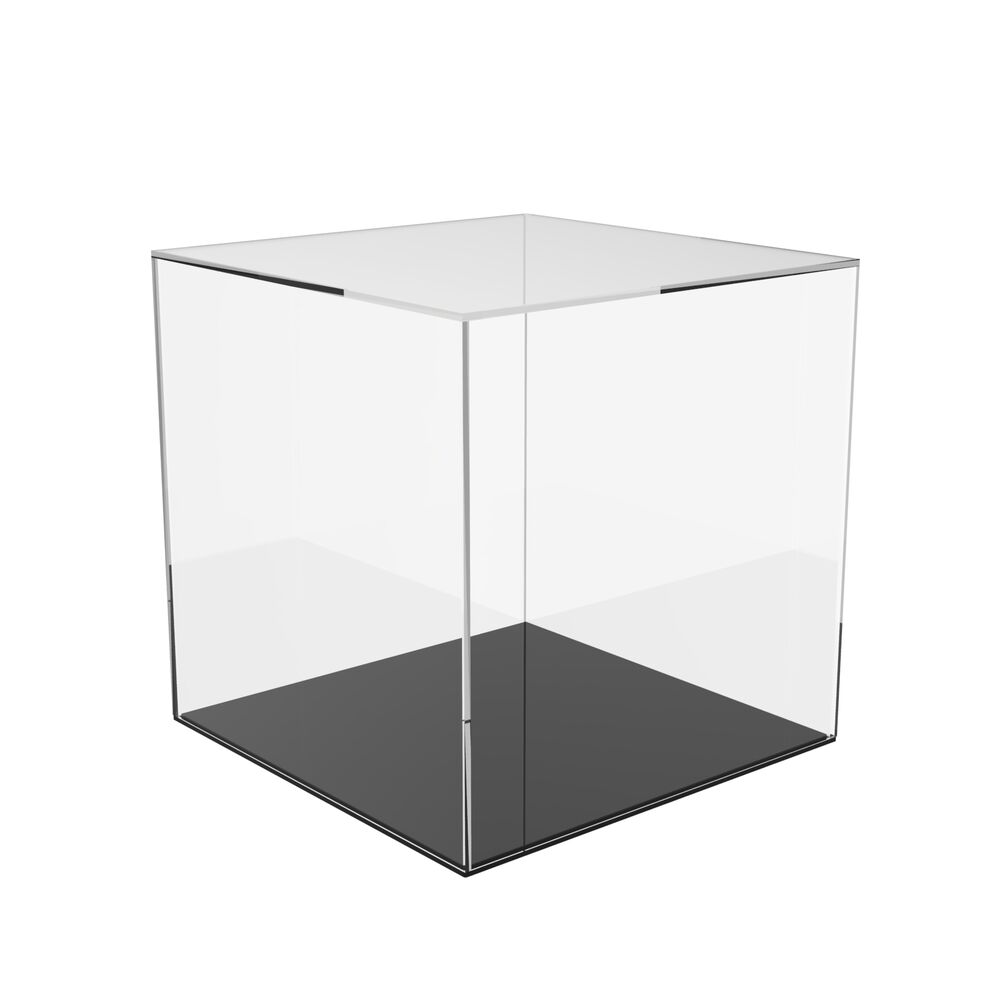 acrylic cube display stand square 6 sided box perspex tray retail shop holder ebay. Black Bedroom Furniture Sets. Home Design Ideas
